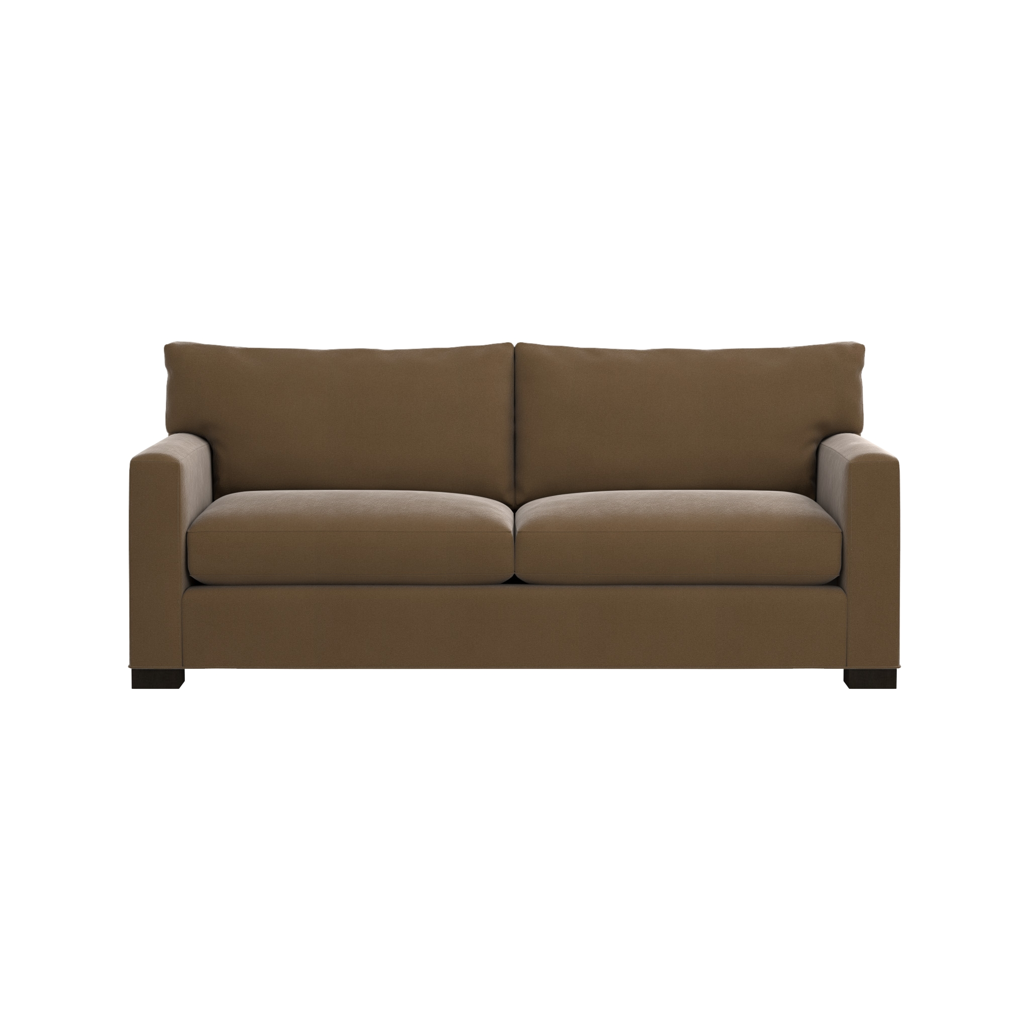 Axis Ii 2 Seater Brown Microfiber Sofa | Crate And Barrel Regarding Sectional Crate And Barrel (Photo 20 of 20)