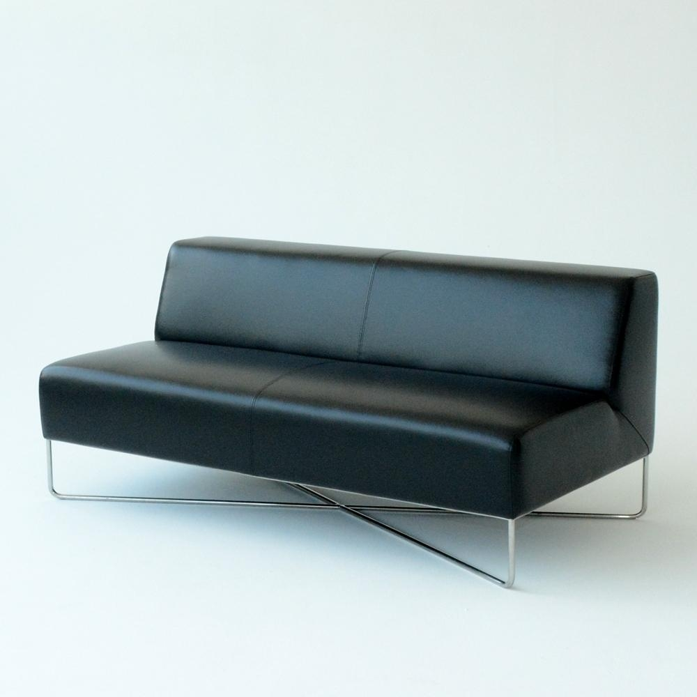 Balance Sofa Black | Furniture Rentals For Special Events – Taylor With Regard To Black Vinyl Sofas (Image 4 of 20)