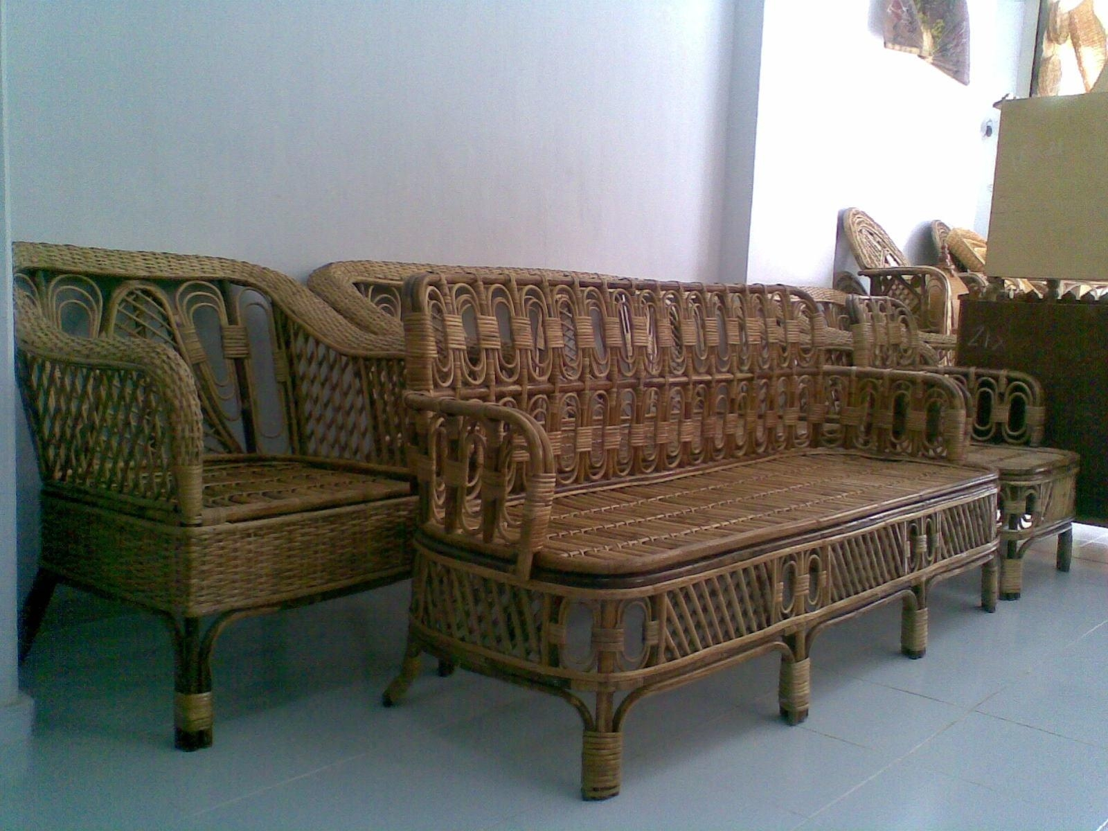 Bamboo Sofa Set With Design Gallery 21235 | Kengire For Ken Sofa Sets (Image 2 of 20)