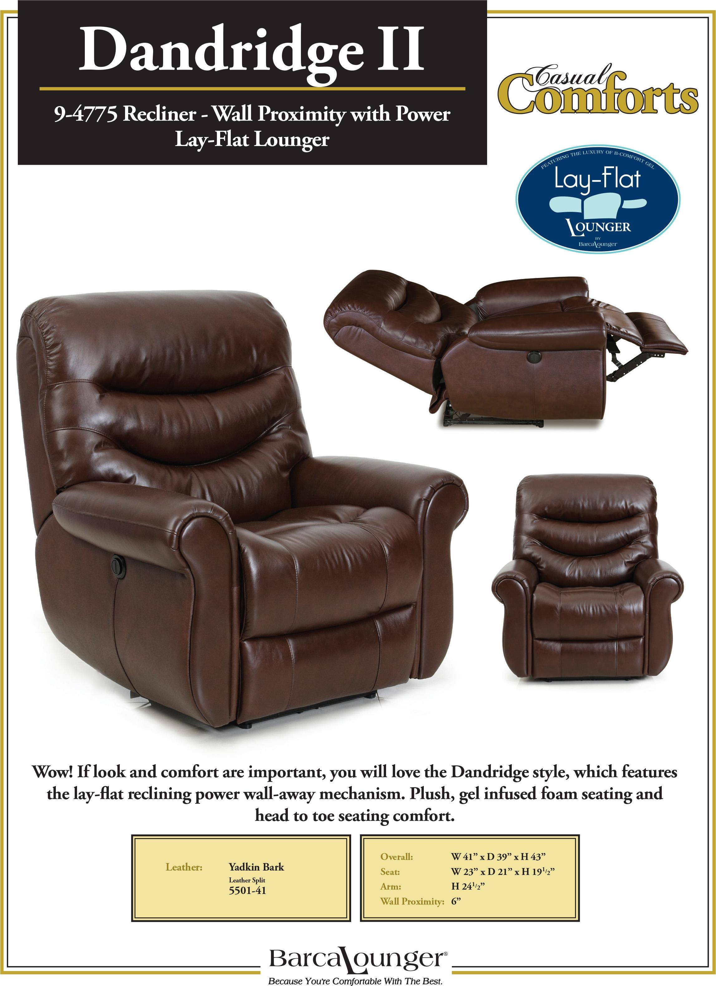 Barcalounger Dandridge Ii Lay Flat Wall Away Hugger Recliner Chair Pertaining To Barcalounger Sofas (Image 6 of 20)