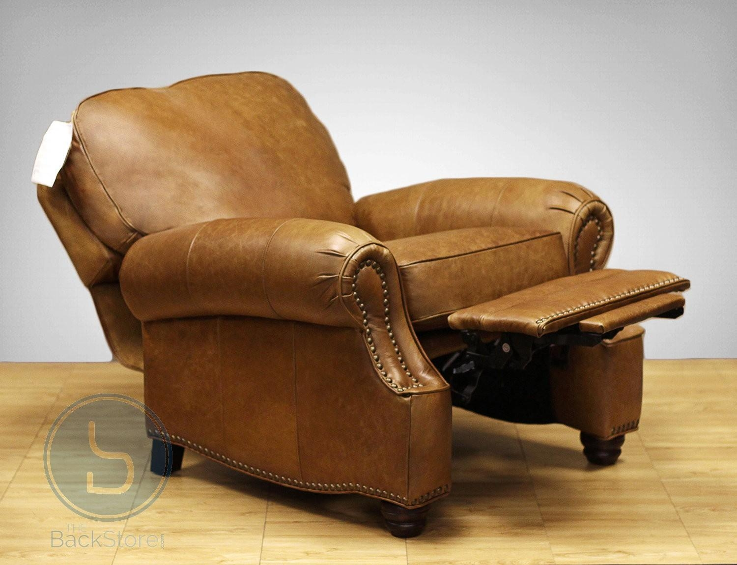 Barcalounger Longhorn Ii Leather Recliner Chair Regarding Barcalounger Sofas (Image 10 of 20)