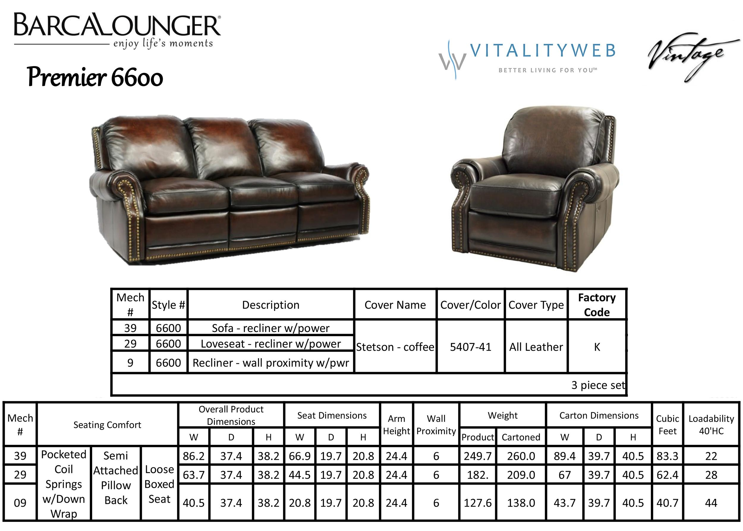 Barcalounger Premier Ii Leather Recliner Chair – Leather Recliner Within Barcalounger Sofas (Image 16 of 20)