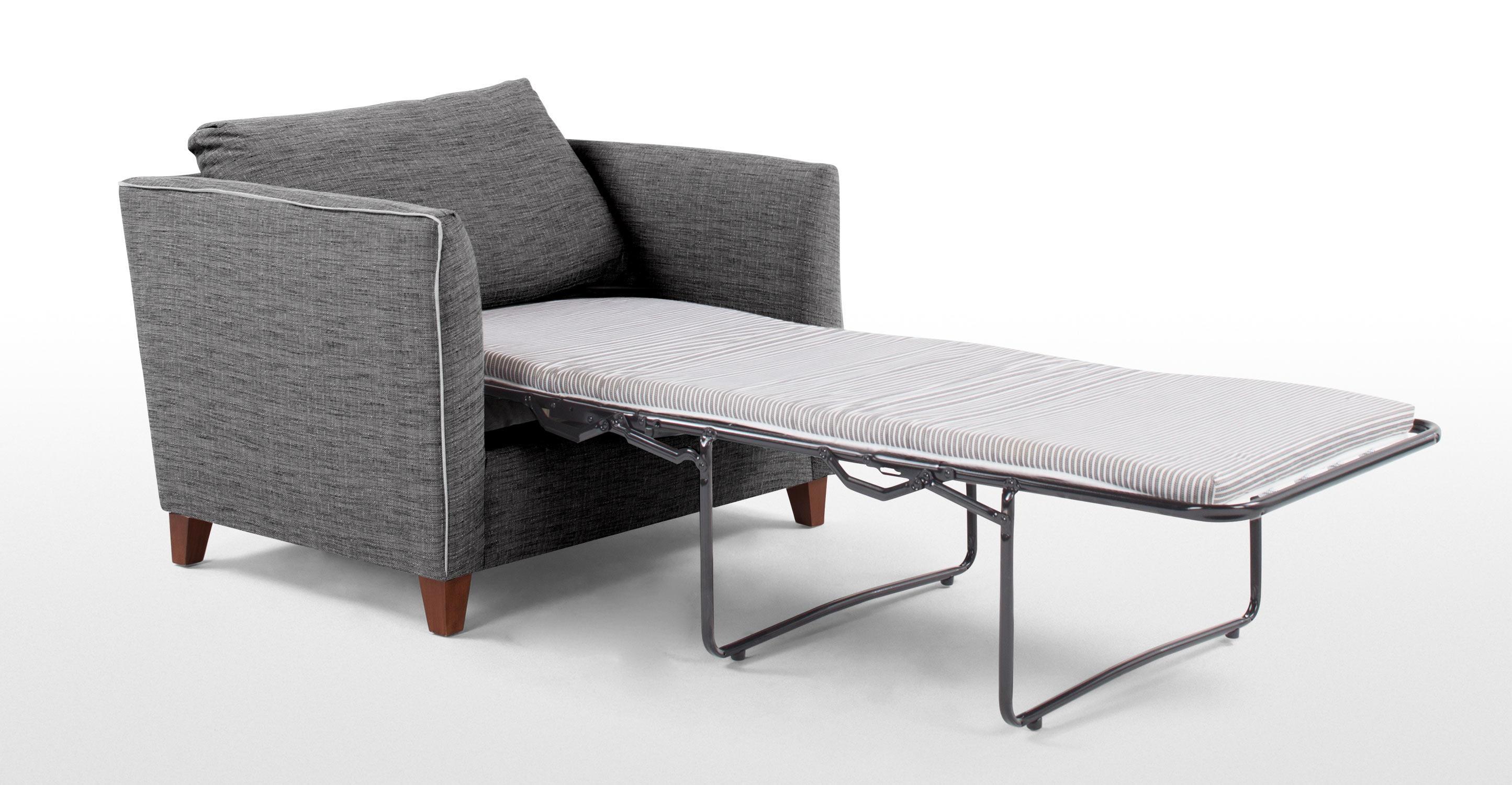 Bari Snuggler Sofa Bed, Malva Graphite | Made Regarding Single Sofa Beds (View 17 of 20)