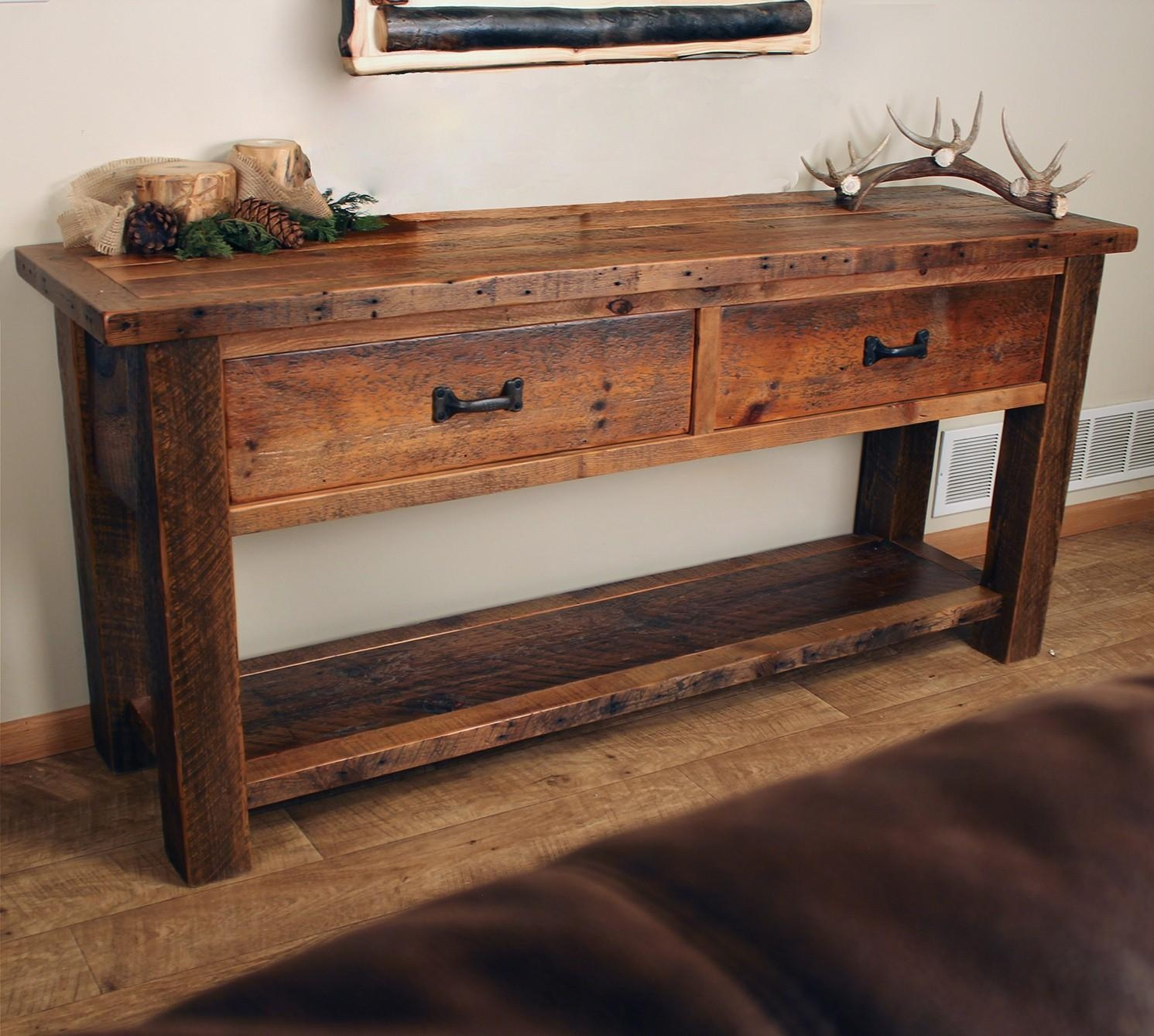 Barnwood Coffee Tables, Barnwood End Tables And Barnwood Sofa Tables For Barnwood Sofa Tables (Image 4 of 20)
