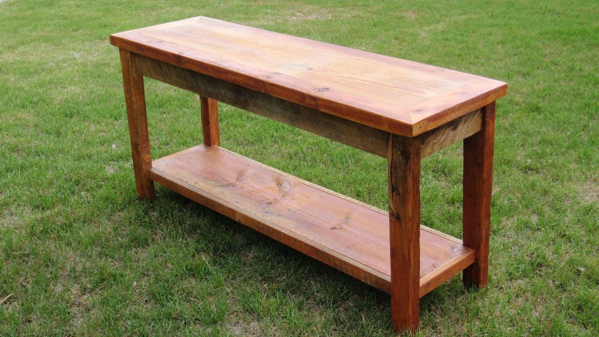 Barnwood Sofa Table Barnwood Sideboards Sofa Tables Farm Mountain for Barnwood Sofa Tables