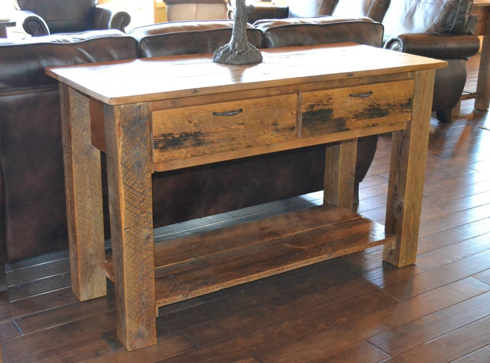 Barnwood Sofa Table | Sofa Gallery | Kengire With Barnwood Sofa Tables (Image 5 of 20)