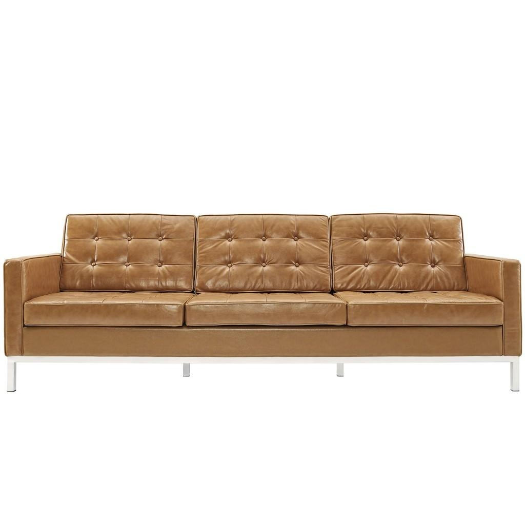 Bateman Leather Sofa | Modern Furniture • Brickell Collection Regarding Light Tan Leather Sofas (Image 1 of 20)