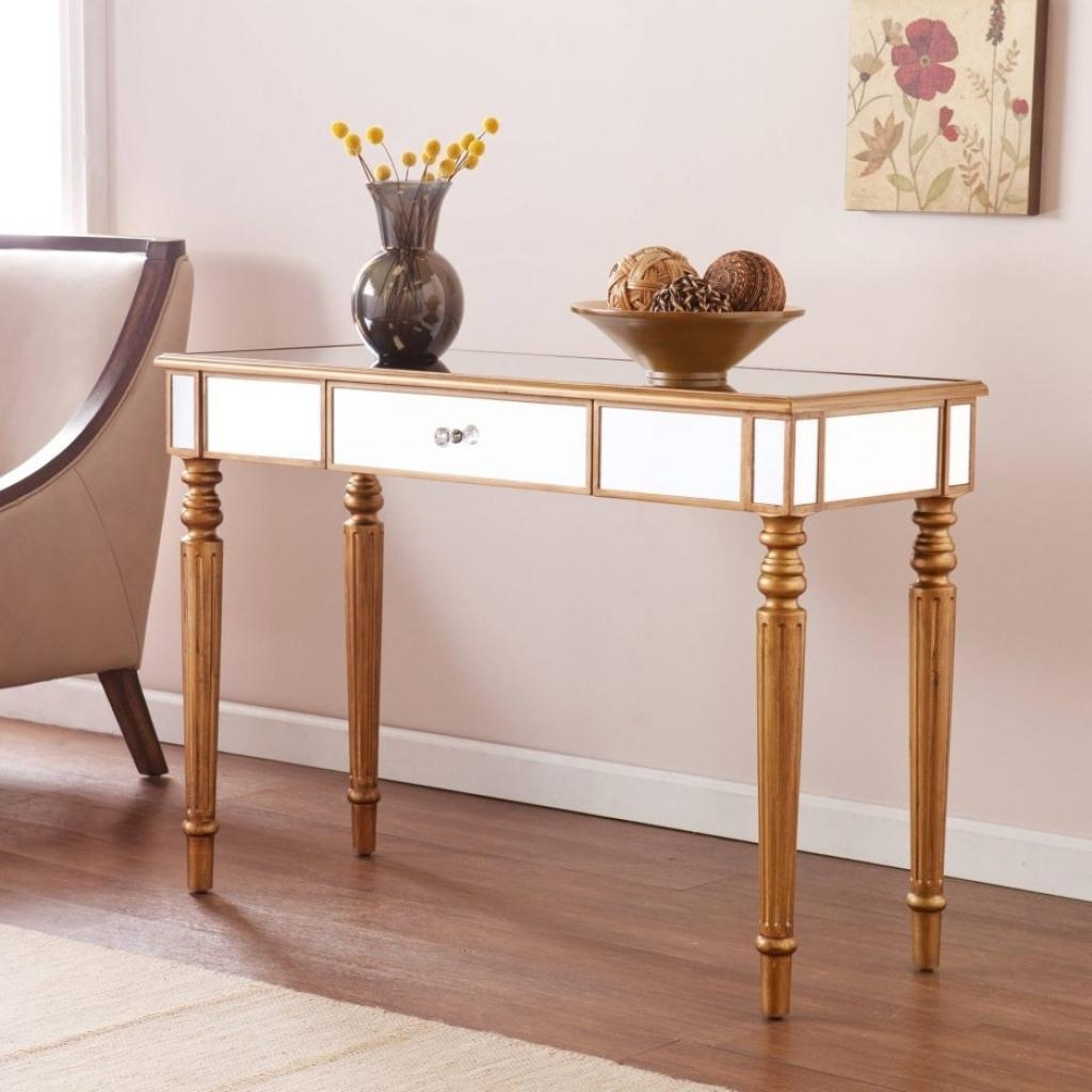 Bathroom Licious Upton Home Adelie Mirrored Sofa Console Table Regarding Sofa Back Console (Image 2 of 20)