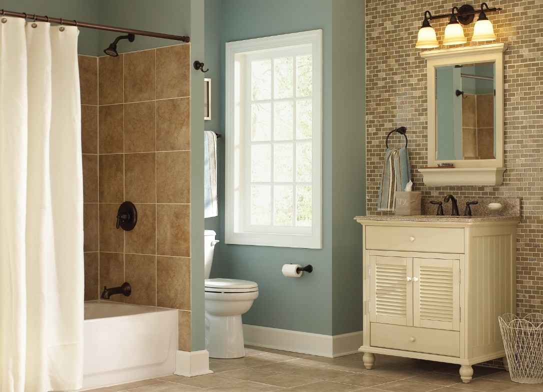 Bathroom Remodel At The Home Depot Regarding Cheap Ways To Improve Your Bathroom (View 21 of 33)