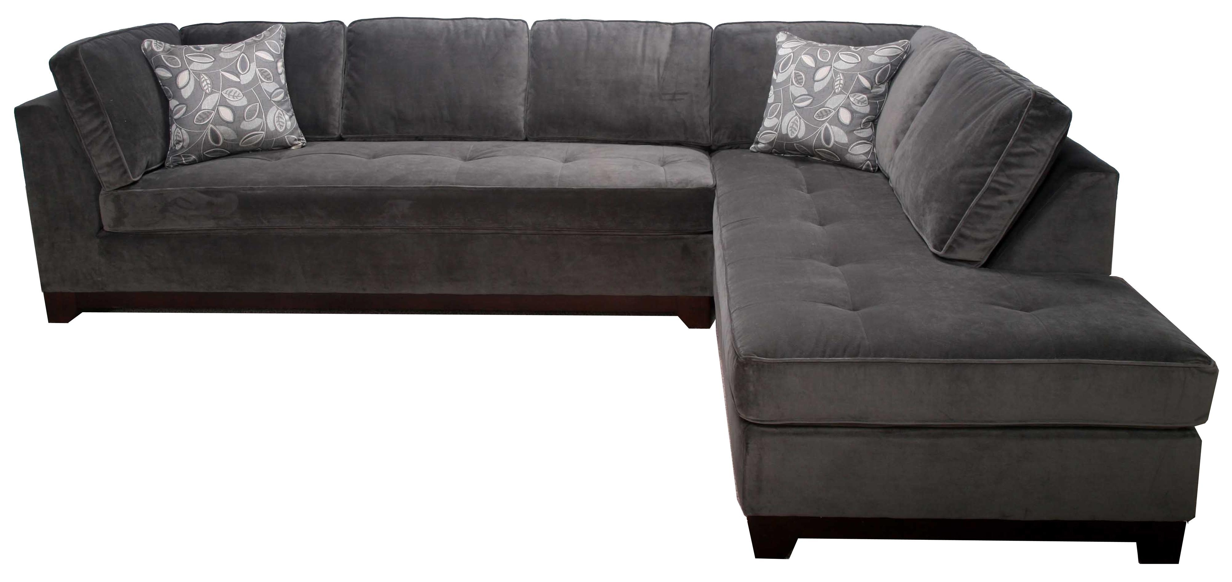 Bauhaus 536A Contemporary 2 Piece Sectional With Chaise – Ahfa Within Bauhaus Sectional (View 1 of 15)