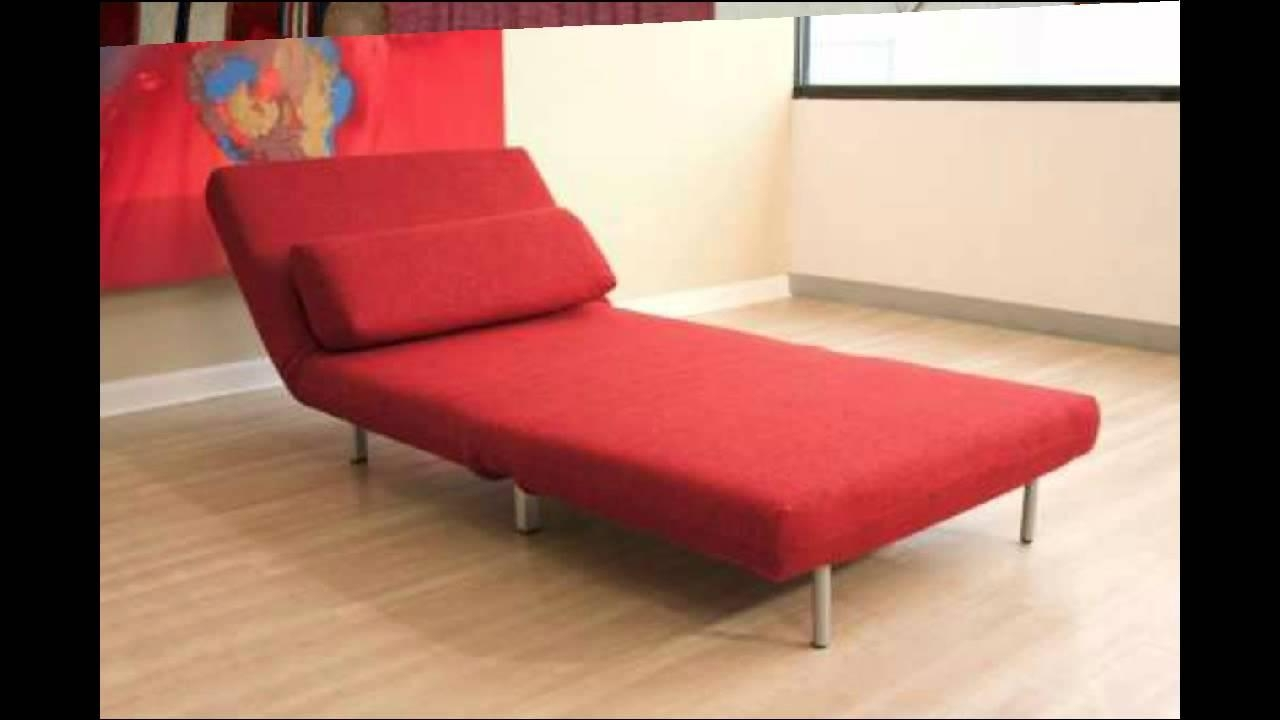 Baxton Studios Romano Convertible Sofa Chair Bed Red – Youtube With Convertible Sofa Chair Bed (Image 2 of 20)