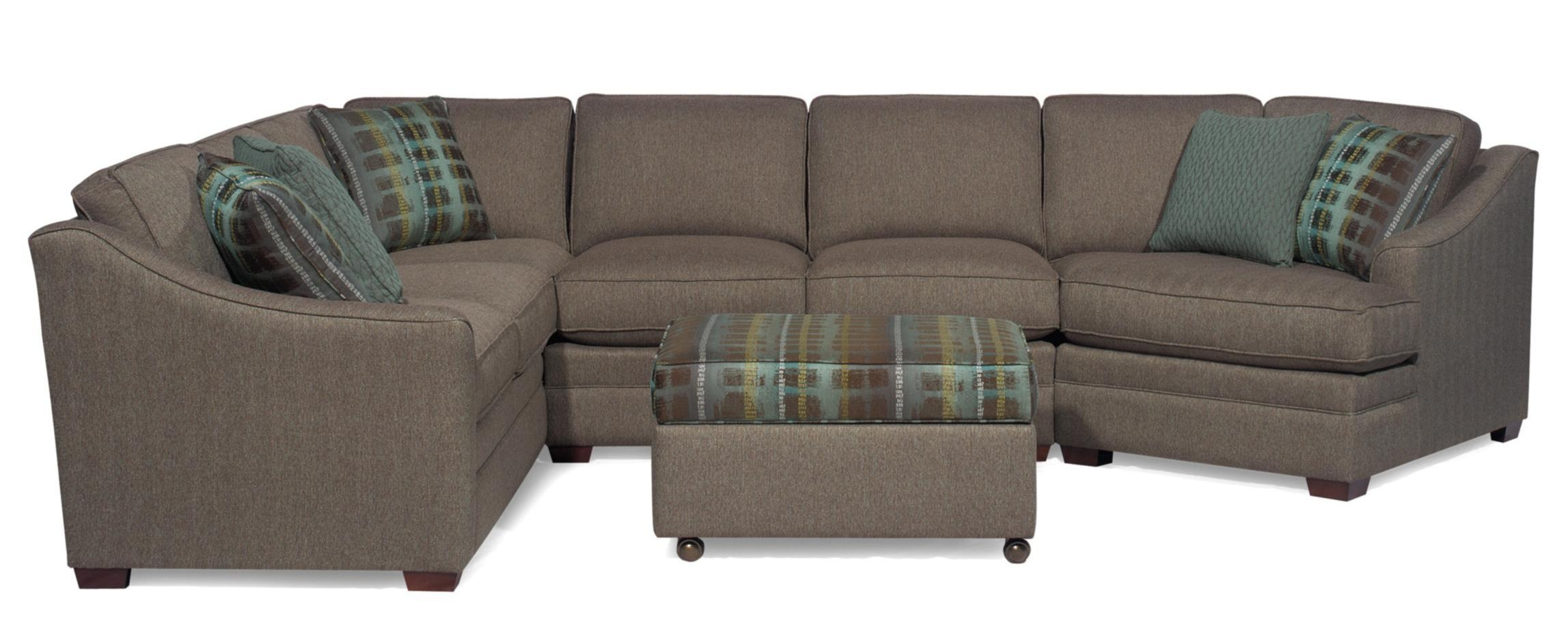 B>Customizable</b> 3 Piece Sectional With Laf Cuddler Throughout Craftmaster Sectional (View 4 of 15)