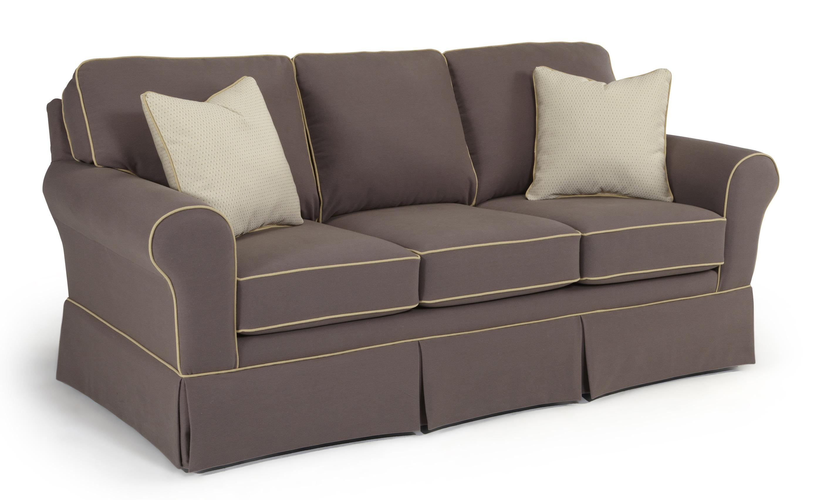 B>Customizable</b> Traditional Sofa With Rolled Arms And Skirted For Customized Sofas (Image 1 of 20)