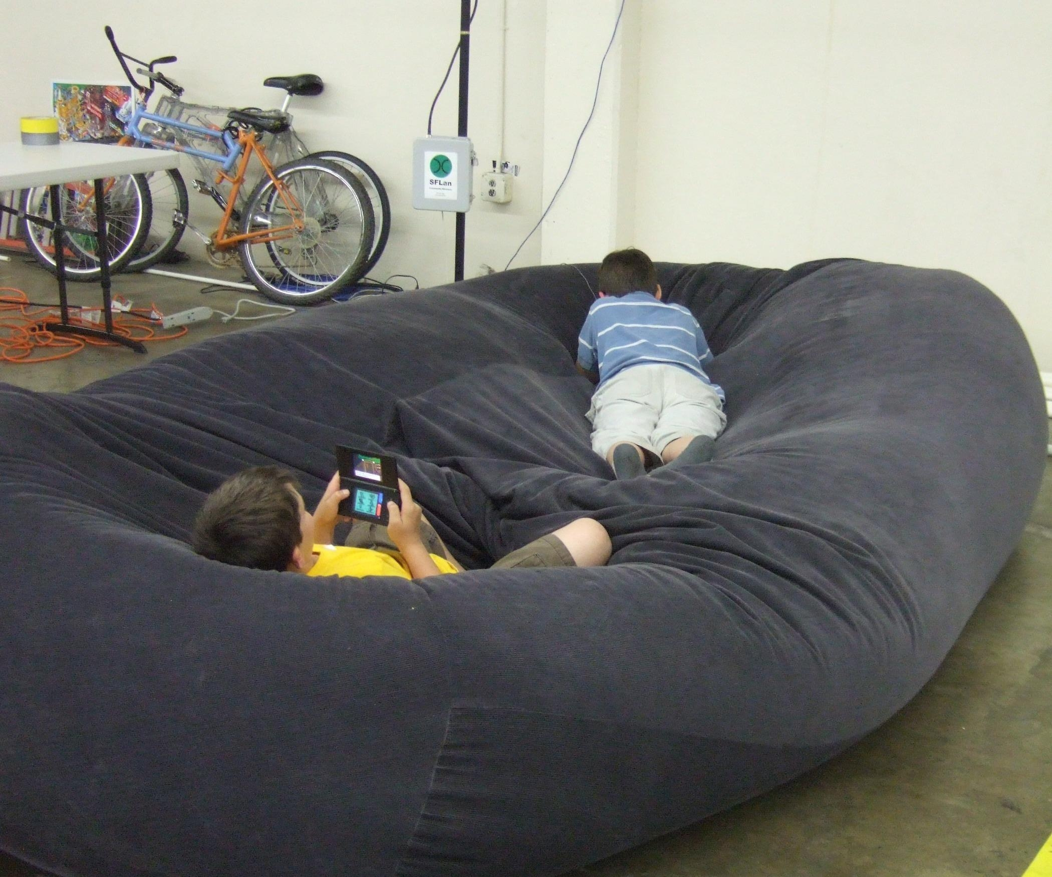 Bean Bag Sofa / Bed: 8 Steps (With Pictures) Intended For Giant Sofa Beds (Image 2 of 20)