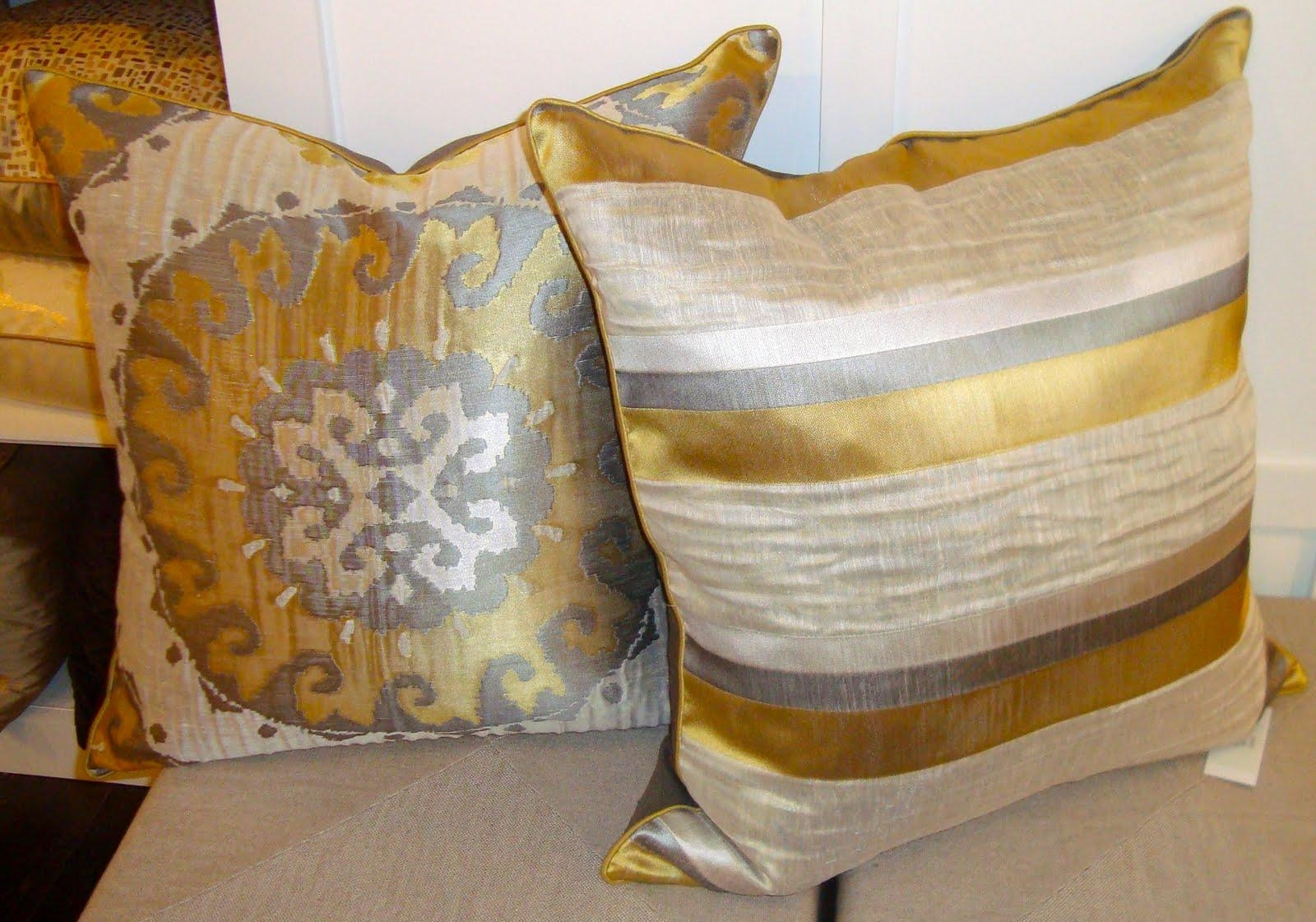 Beautiful Gold Throw Pillows With Ivory And Gold Pillow Metallic With Gold Sofa Pillows (Image 1 of 20)