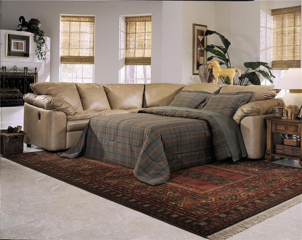 Beautiful Leather Sectional Sleeper Sofa With Recliners 37 For For Broyhill Sectional Sleeper Sofas (Image 3 of 20)