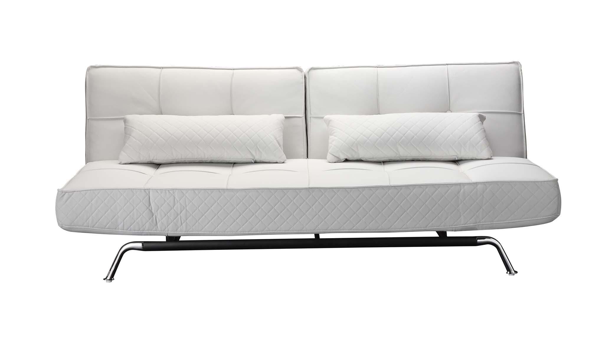 Beautiful Modern White Couch Contemporary Bonded Leather Sectional Inside White Modern Sofas (View 7 of 20)