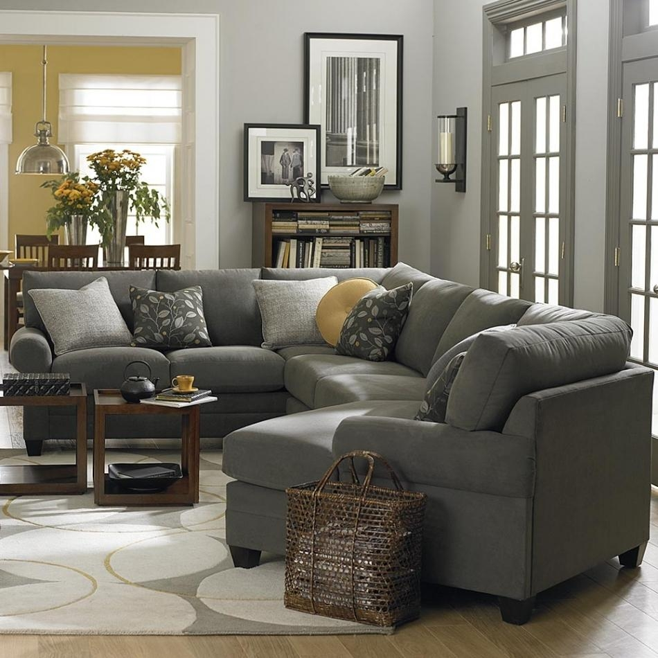 Beautiful Sectional Sofa With Cuddler Chaise | Sofa Ideas For Bassett Cuddler Sectional (Image 1 of 15)