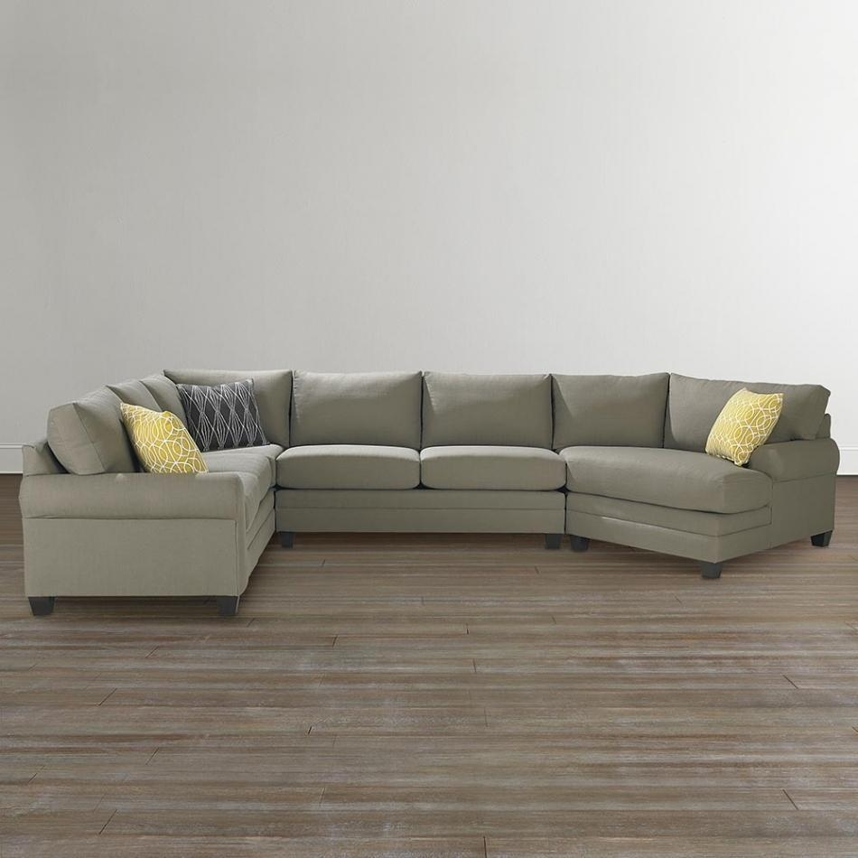 Beautiful Sectional Sofa With Cuddler Chaise | Sofa Ideas Inside Bassett Cuddler Sectional (Image 2 of 15)