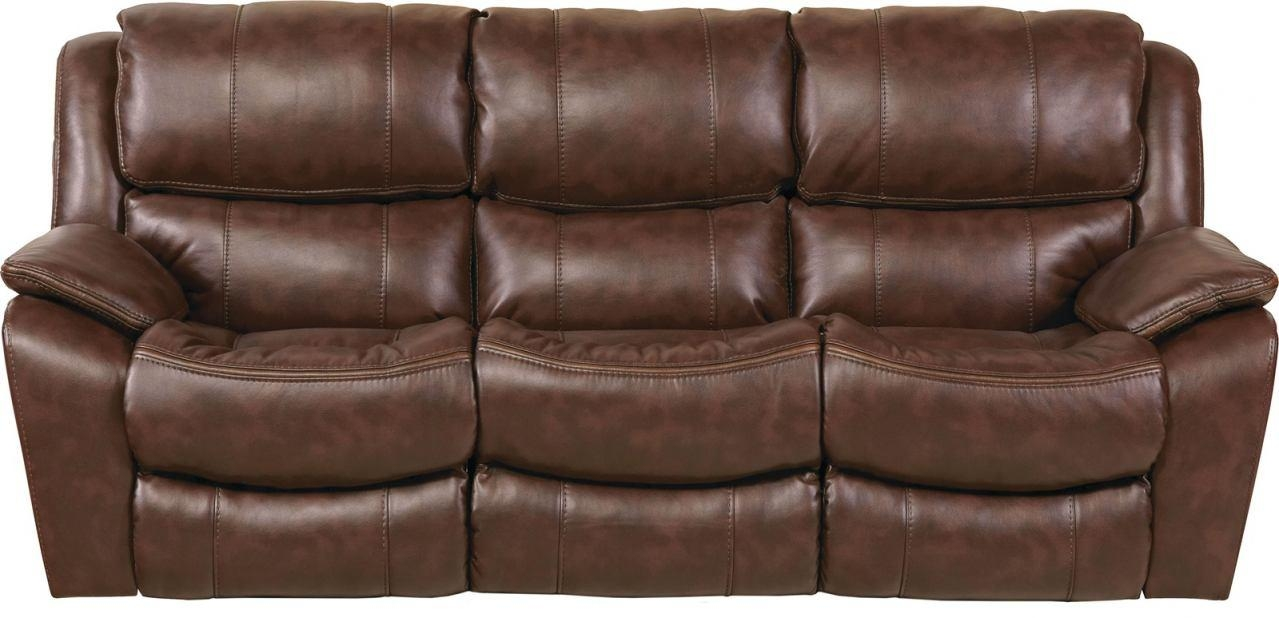 Beckett Reclining Sofa In Java 4511 With Catnapper Recliner Sofas (Image 4 of 20)