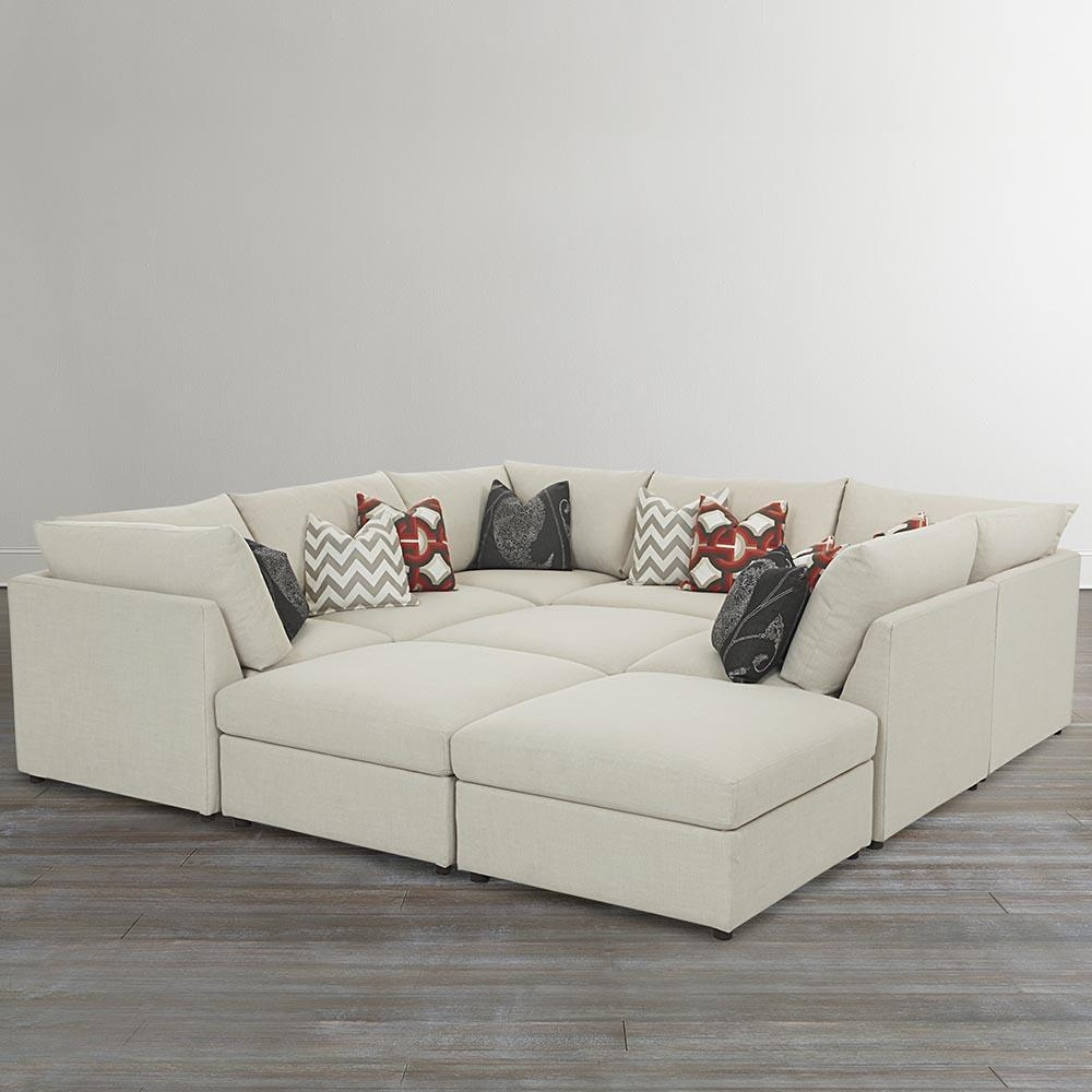 Beckham Upholstered Pit Sectional | Living Room | Bassett Furniture Throughout Giant Sofa Beds (Image 3 of 20)