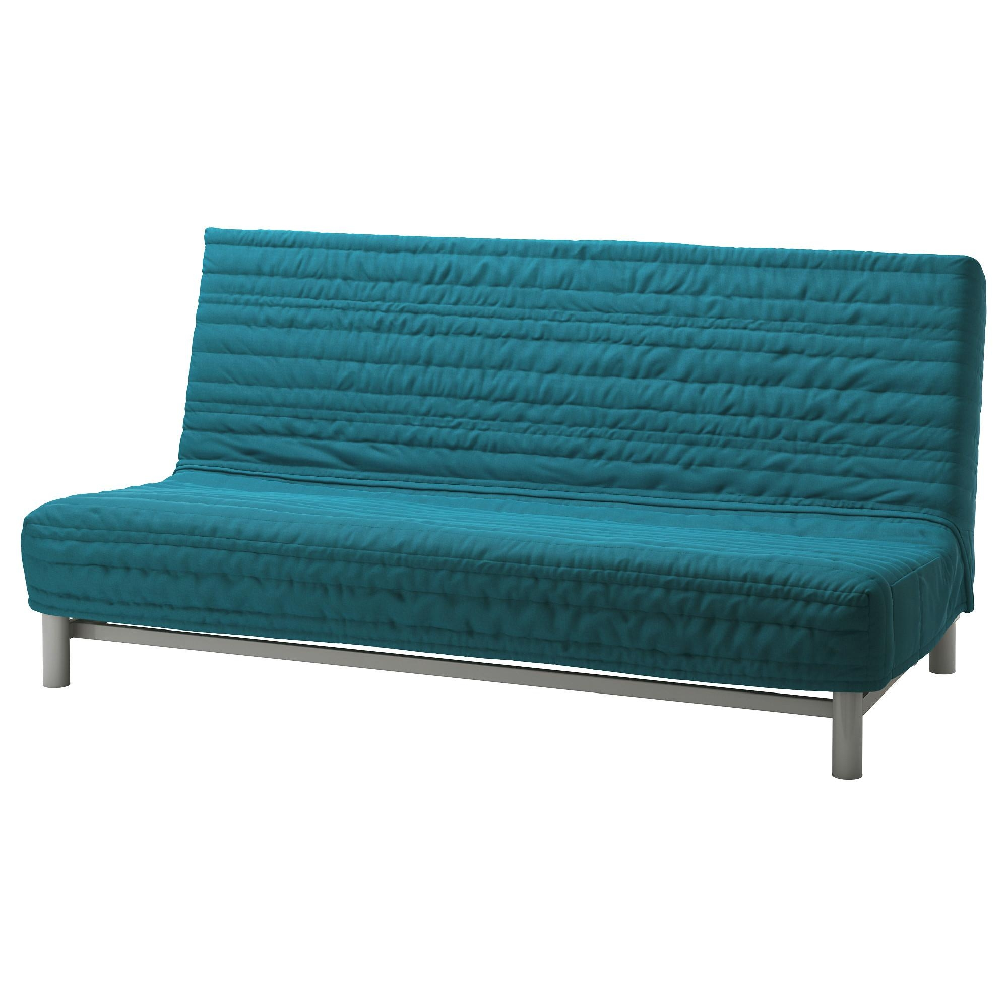 Beddinge Lövås Sleeper Sofa – Knisa Turquoise – Ikea In Single Futon Sofa Beds (Image 6 of 20)