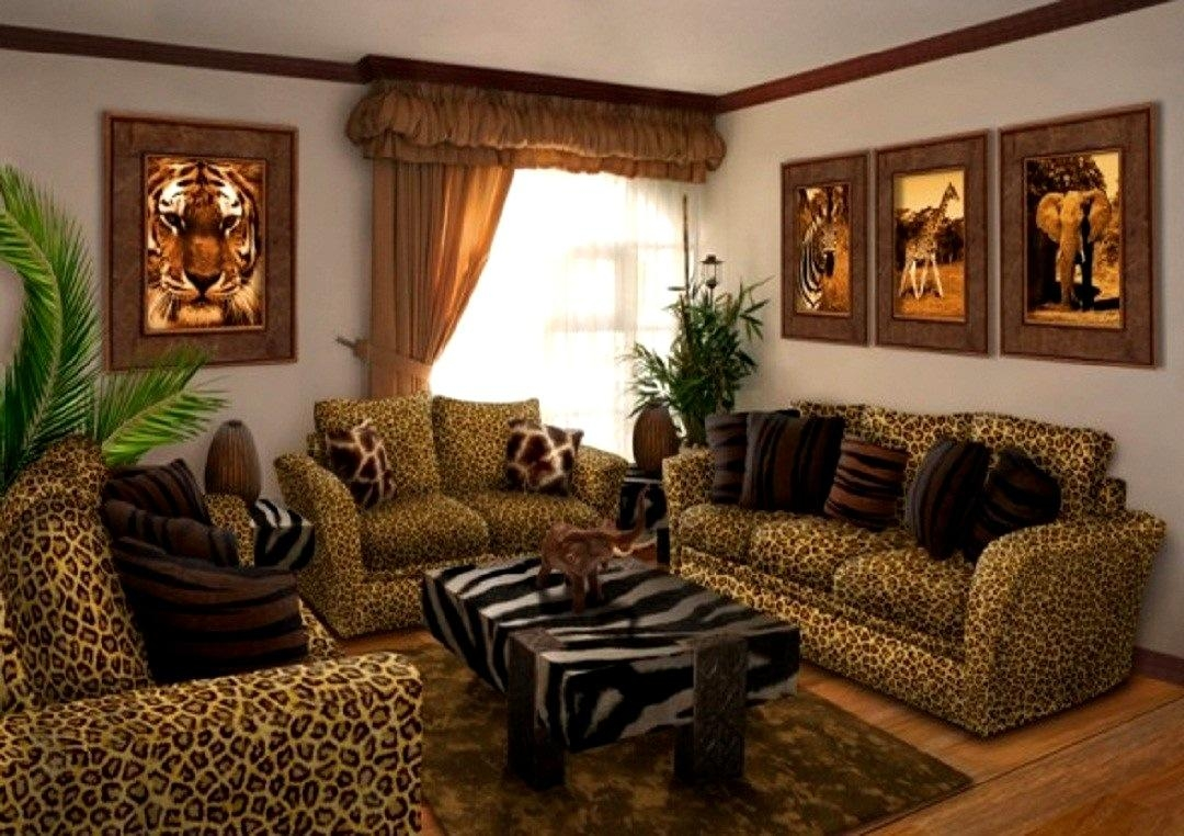 Bedroom : Endearing Animal Print Room Examples Cheetah Leopard With Animal Print Sofas (Image 5 of 20)