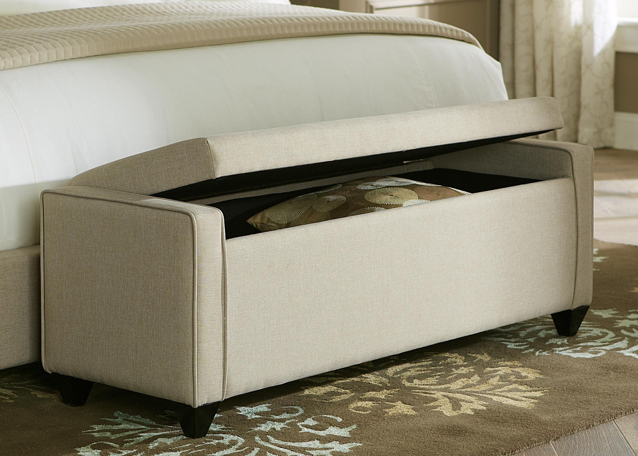 Bedroom Furniture : Storage Bench With Seat Bedroom Upholstered Within Bedroom Bench Sofas (Image 5 of 20)