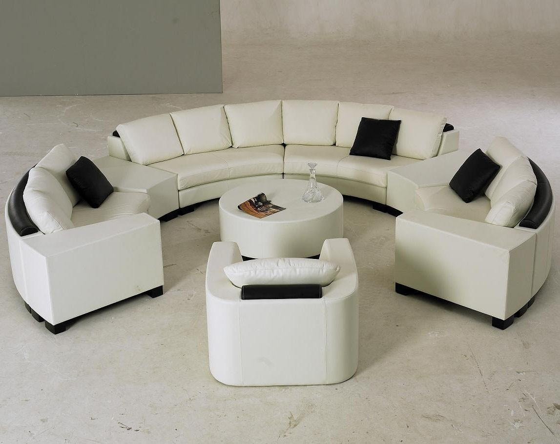 Bedroom: Luxury Curved Sectional Sofa With Zgallerie Furniture And Within Round Sectional Sofa Bed (Image 1 of 20)