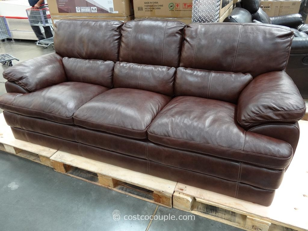 Bedroom: Nice Brown Leather Costco Leather Couches Simon Li Hunter Pertaining To Simon Li Loveseats (Image 2 of 20)