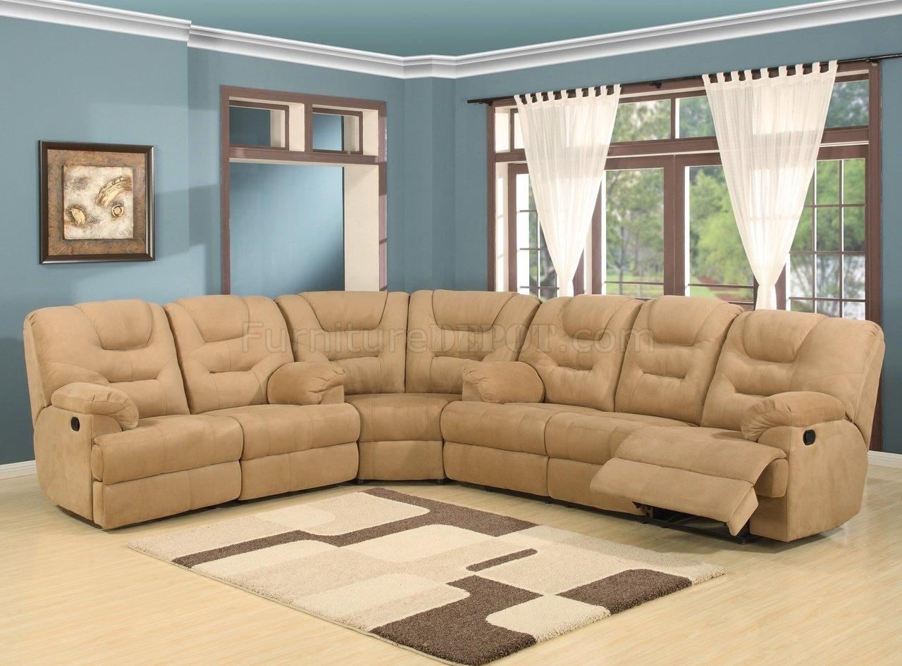Beige Easy Rider Plush Fabric Modern Reclining Sectional Sofa Throughout Modern Reclining Sectional (View 17 of 20)