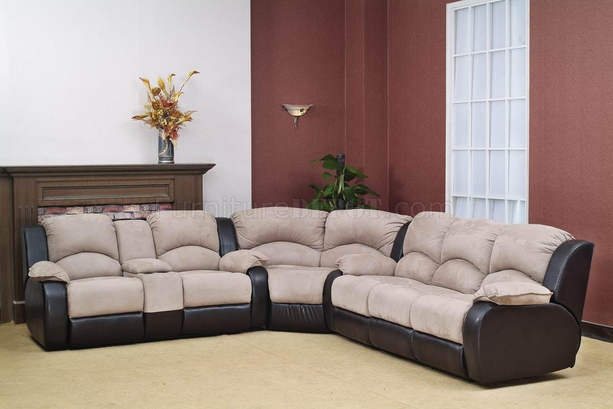 Beige Fabric Modern Reclining Sectional Sofa W/optional Chair In Modern Reclining Sectional (View 12 of 20)