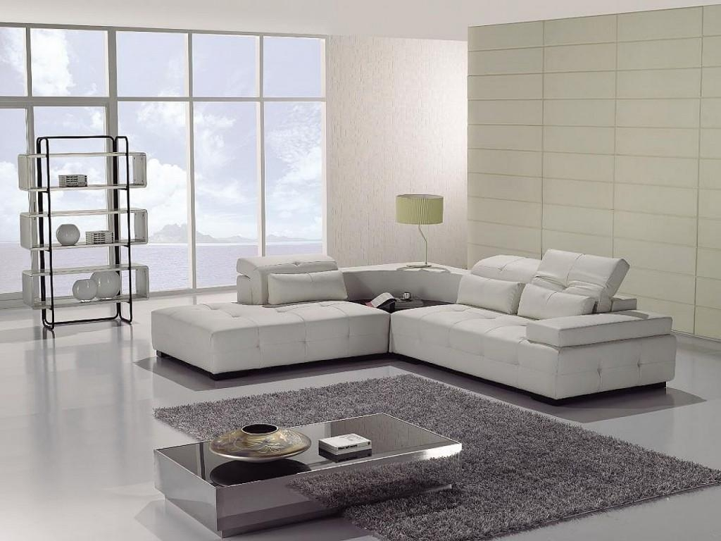 Beige Leather Modern Sectional Sofas — Liberty Interior Pertaining To Leather Modern Sectional Sofas (Image 2 of 20)
