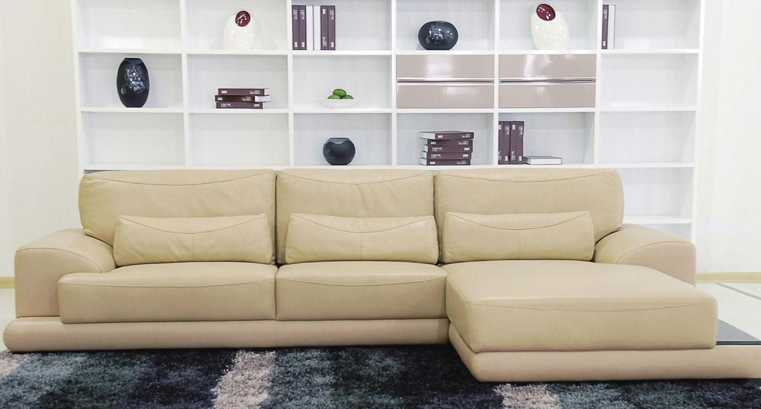 Beige Leather Sectional Sofa – S3Net – Sectional Sofas Sale With Regard To Beige Leather Couches (Image 3 of 20)