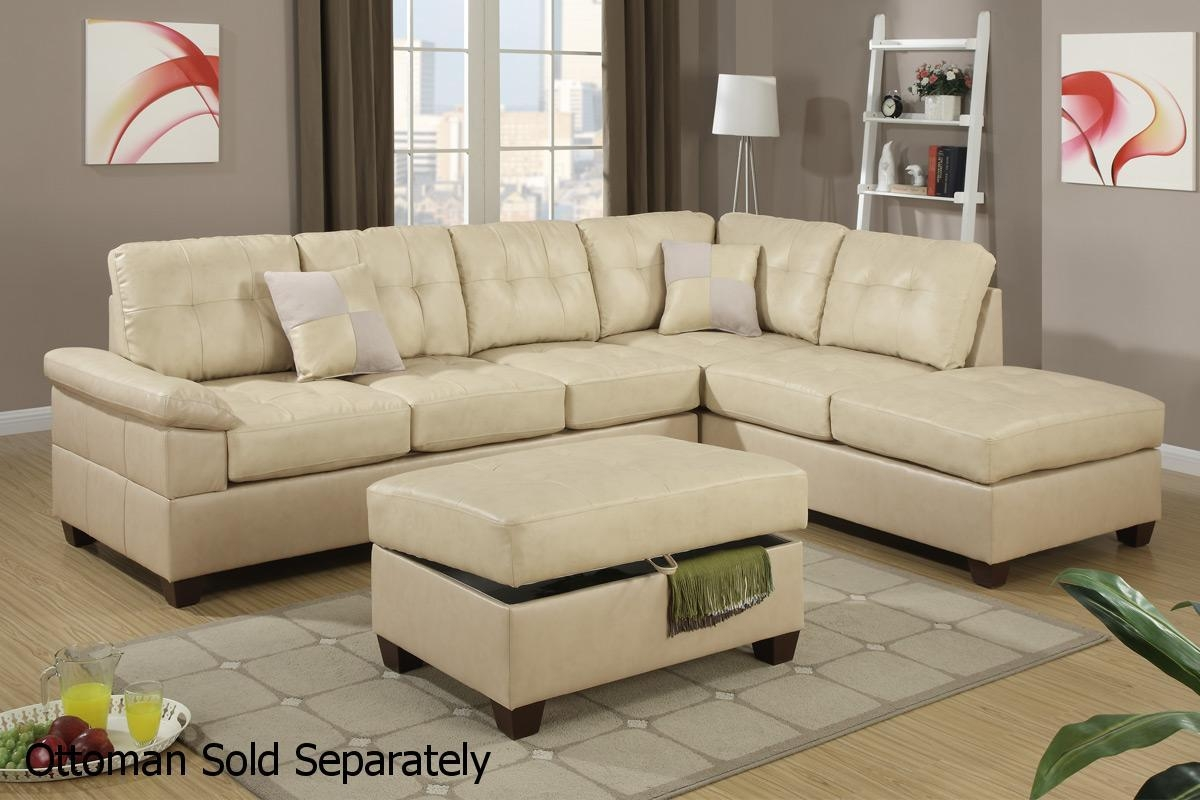 Beige Leather Sectional Sofa – Steal A Sofa Furniture Outlet Los Within Sectional Sofas Los Angeles (Image 1 of 20)