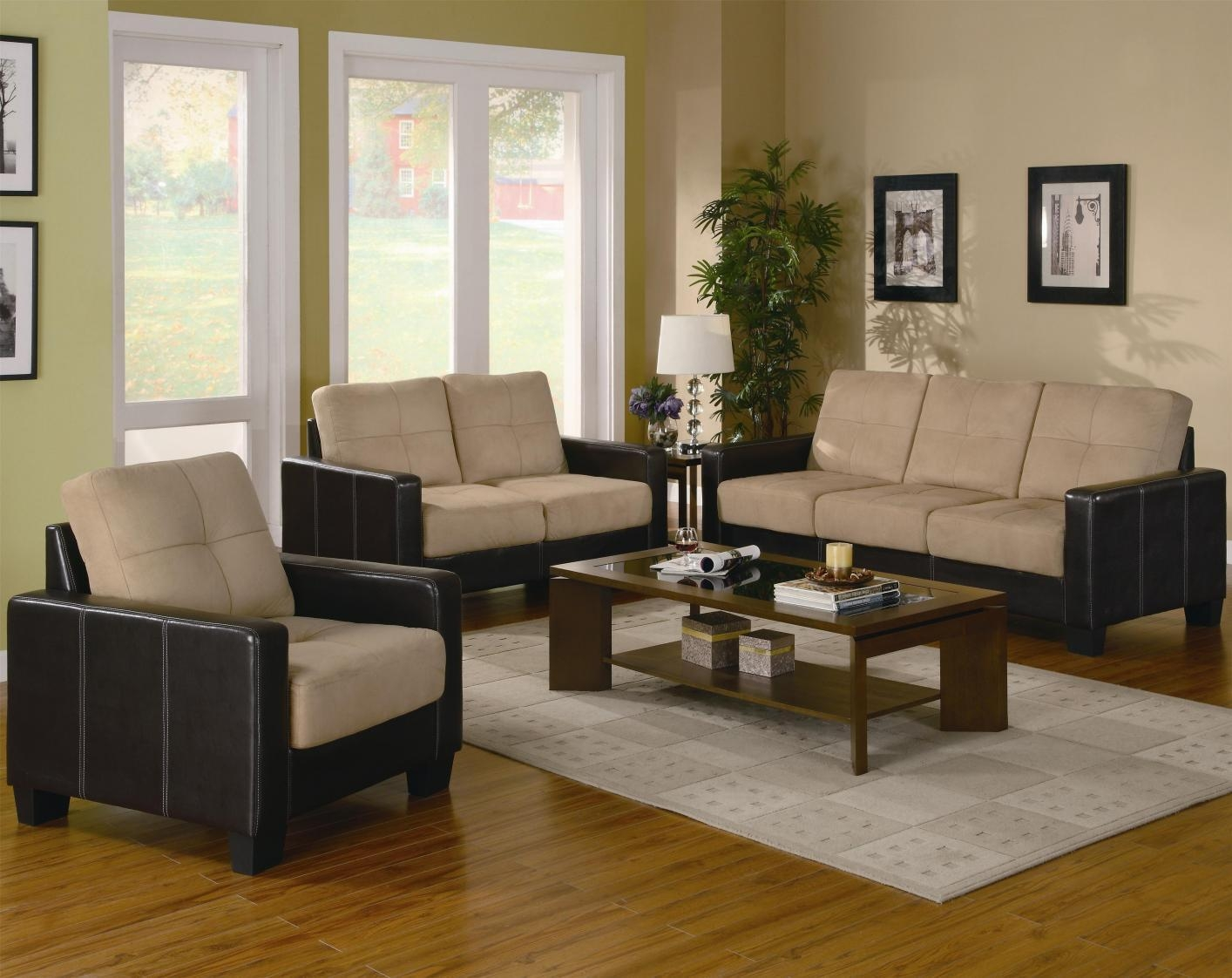 Beige Leather Sofa Loveseat And Chair Set – Steal A Sofa Furniture Intended For Sofa Loveseat And Chair Set (Image 3 of 20)