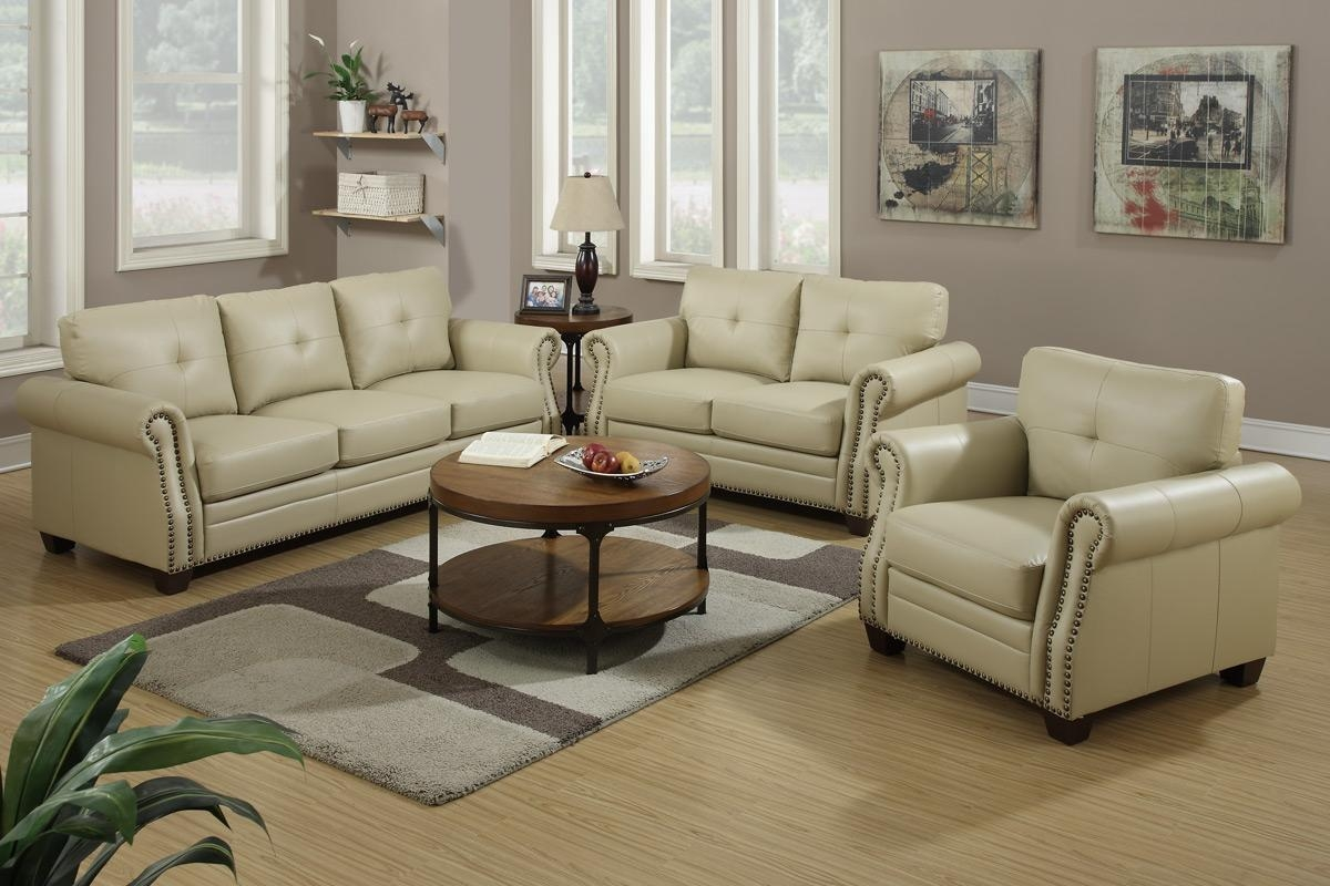 Beige Leather Sofa Set With Ideas Gallery 25187 | Kengire Throughout Ken Sofa Sets (Image 6 of 20)