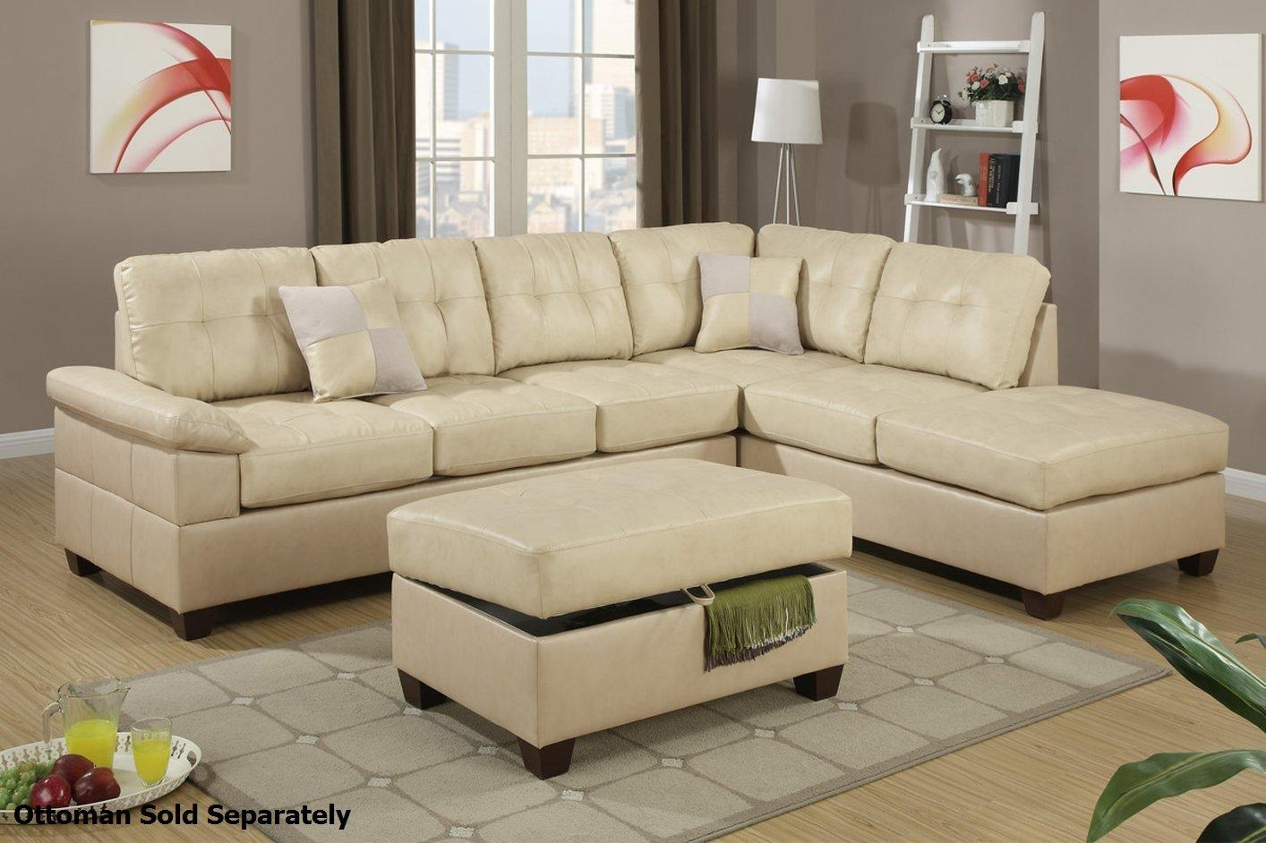 Beige Leather Sofas Pertaining To Beige Leather Couches (Image 4 of 20)