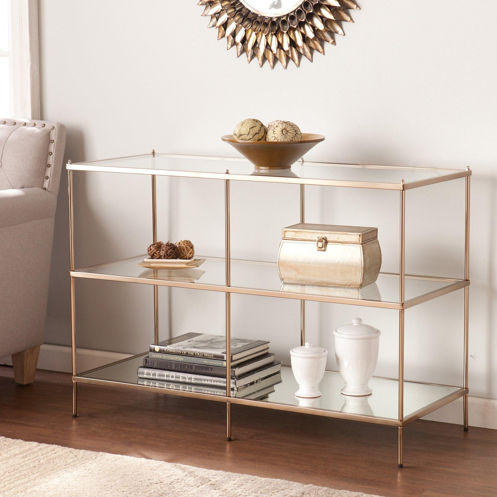Belham Living Lamont Sofa Table – Gold | Hayneedle Pertaining To Gold Sofa Tables (Image 2 of 20)