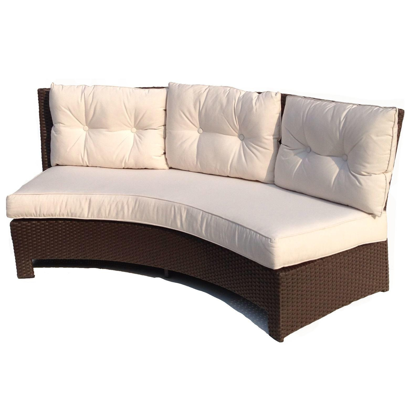 Bench Cushion Sofa Cozy Bay Havana 2 Seater Sofa With Seat Pad Intended For Bench Cushion Sofas (Image 4 of 20)
