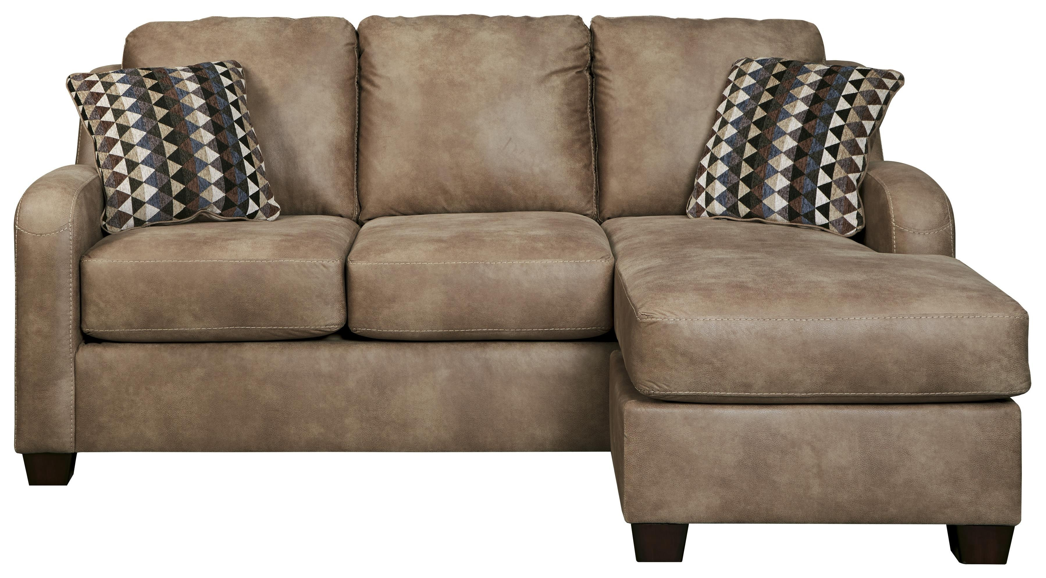 Benchcraft Alturo Contemporary Faux Leather Sofa Chaise – Dunk Throughout Smith Brothers Sofas (View 15 of 20)