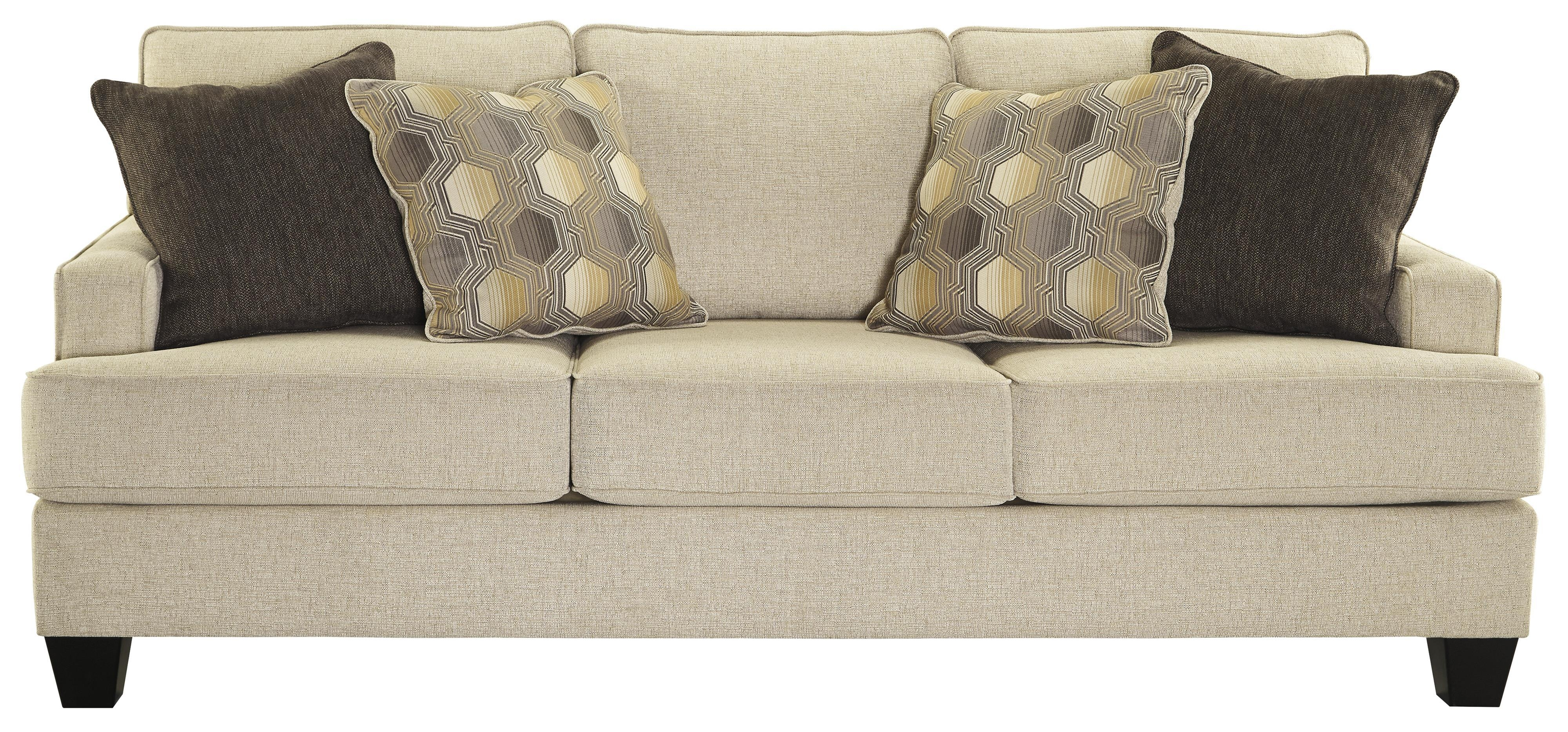 Benchcraft Brielyn Sofa With Track Arms And T Style Seat Cushions Pertaining To Benchcraft Leather Sofas (Image 4 of 20)