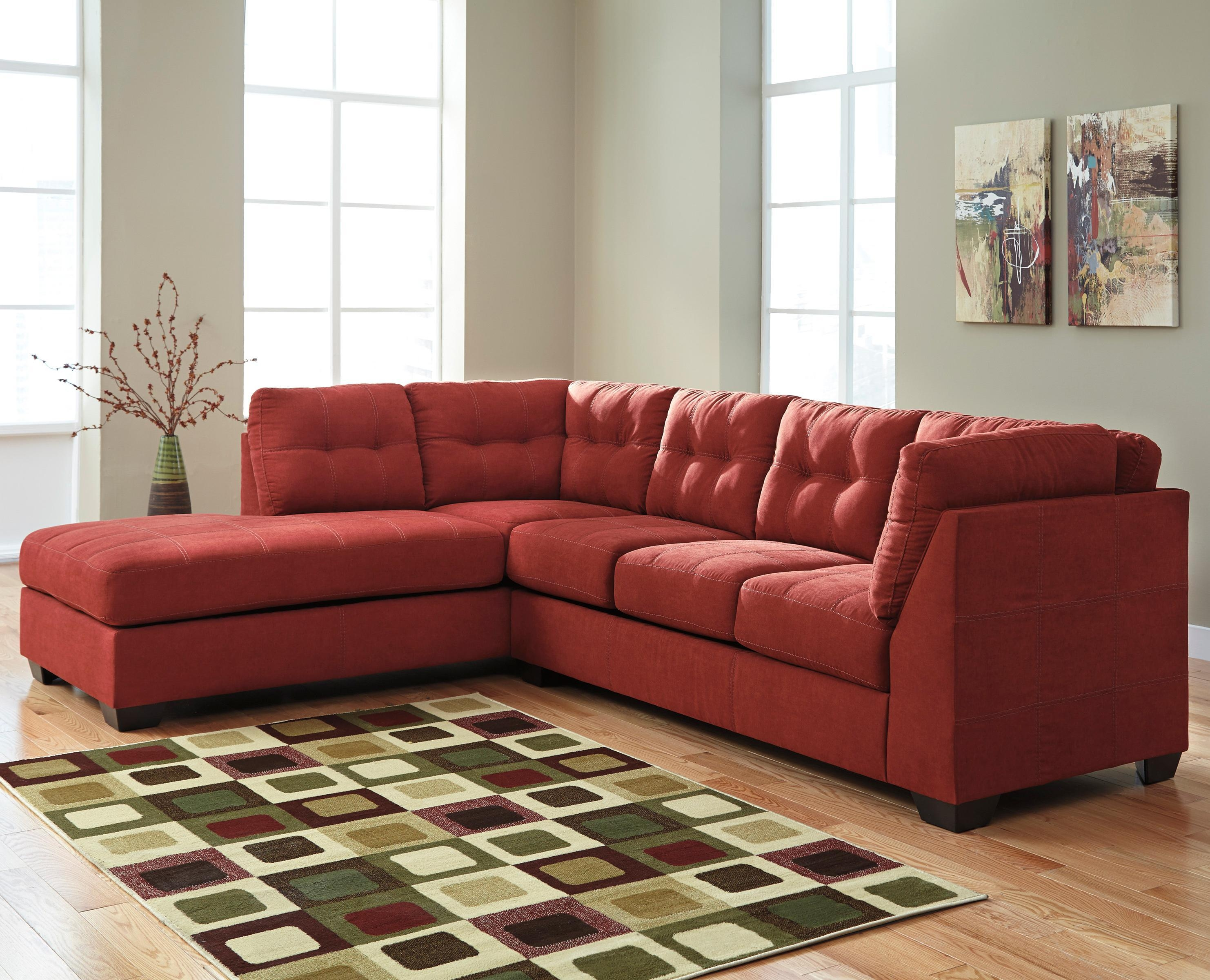 Benchcraft Maier – Sienna 2 Piece Sectional With Left Chaise With Regard To Sectional Sofa With 2 Chaises (Image 8 of 20)
