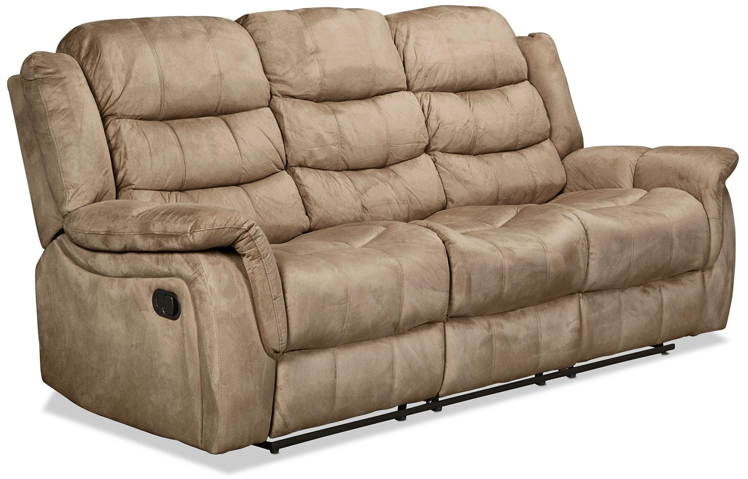 Benton Reclining Sofa – Cobblestone | Levin Furniture In Recliner Sofa Chairs (Image 2 of 20)