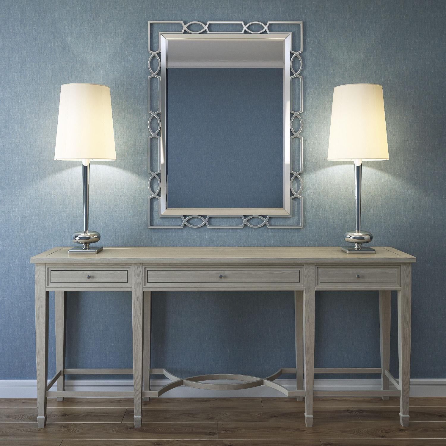 Bernhardt Criteria Console Table With The Mirror 3D Model Max Fbx With Regard To Bernhardt Console Tables (Image 1 of 20)