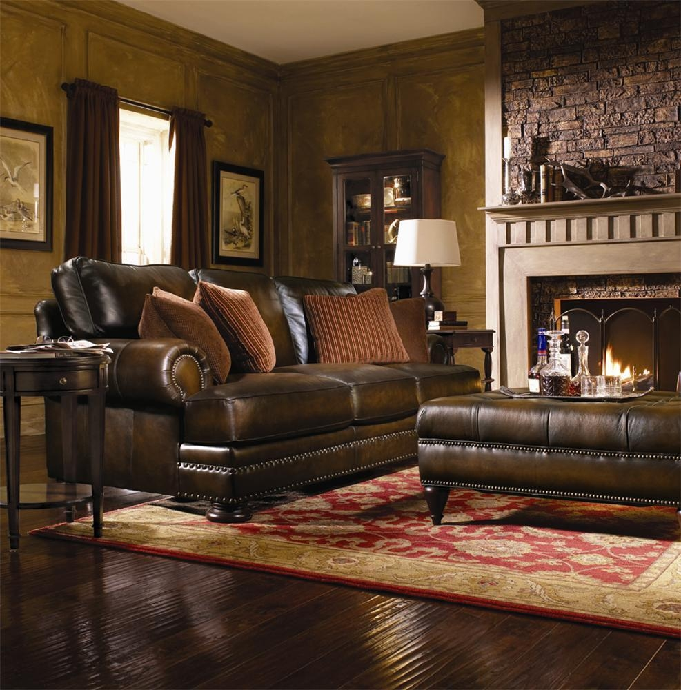 Bernhardt Leather Sofa (Image 9 of 20)