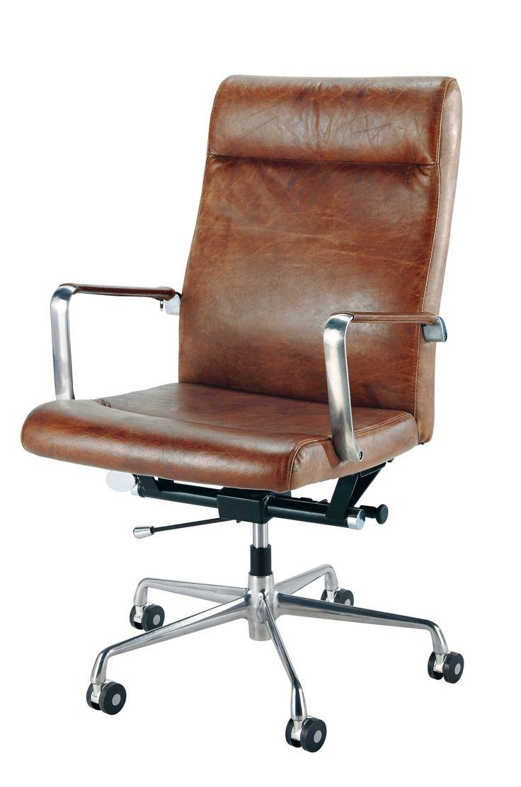Best 10+ Brown Leather Office Chair Ideas On Pinterest | Brown With Regard To Sofa Desk Chairs (Image 2 of 20)