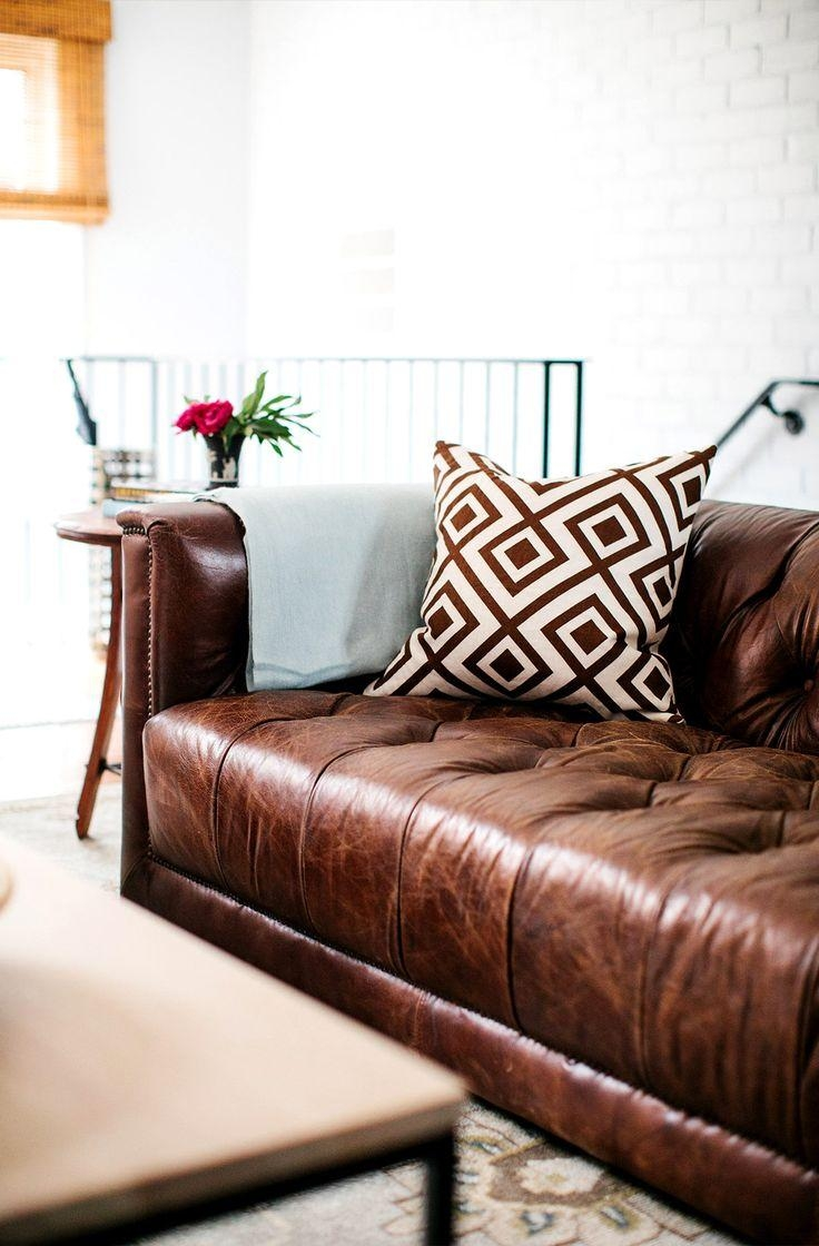 Best 10+ Brown Sofa Decor Ideas On Pinterest | Dark Couch, Living Intended For Brown Sofa Decors (Image 6 of 20)