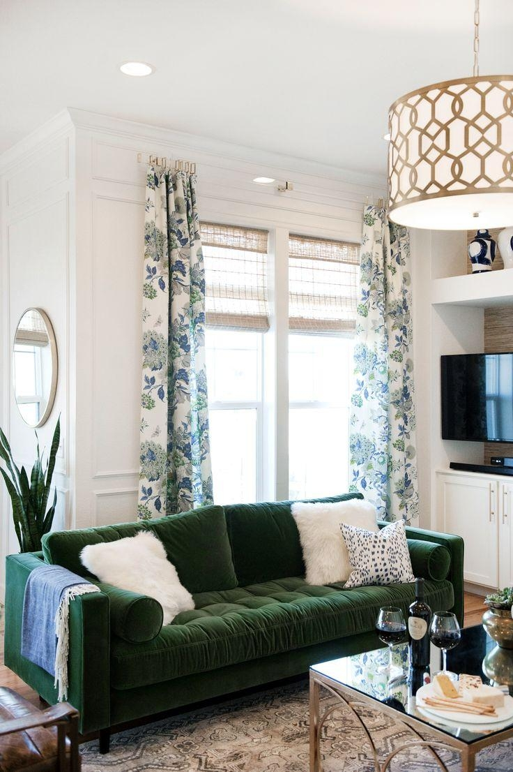 Best 10+ Green Couch Decor Ideas On Pinterest | Green Sofa, Velvet For Green Sofa Chairs (View 13 of 20)