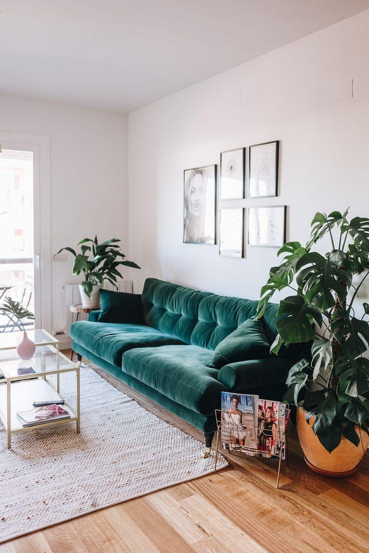 Best 10+ Green Couch Decor Ideas On Pinterest | Green Sofa, Velvet In Emerald Green Sofas (View 8 of 20)